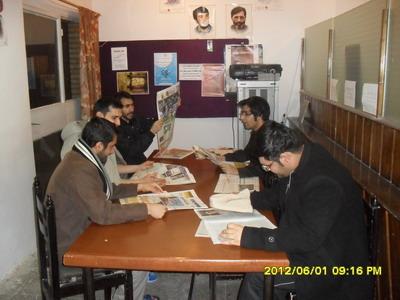 میز مطبوعات خوابگاه فجر